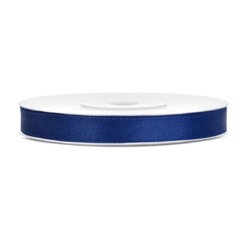 Nastrino Raso blu navy TS6-074 6 mm x 25 m