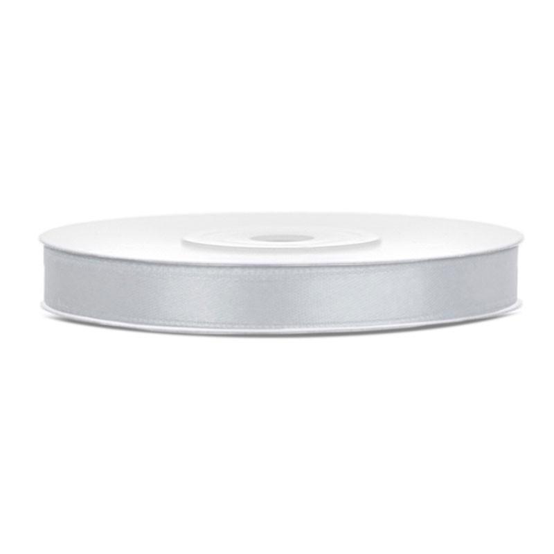 Nastrino Raso grigio  TS6-018 6 mm x 25 m