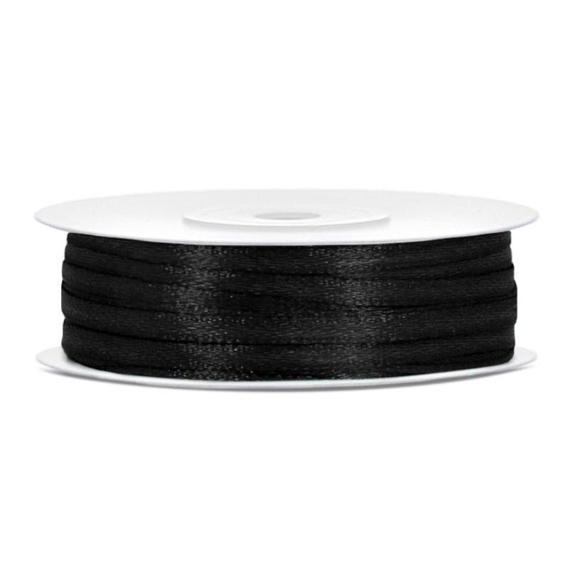 Nastrino Raso nero 3 mm x 50 m TS3-010