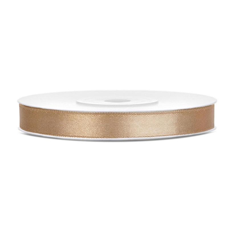 Nastrino Raso oro chiaro 6 mm x 25 m TS6-019J
