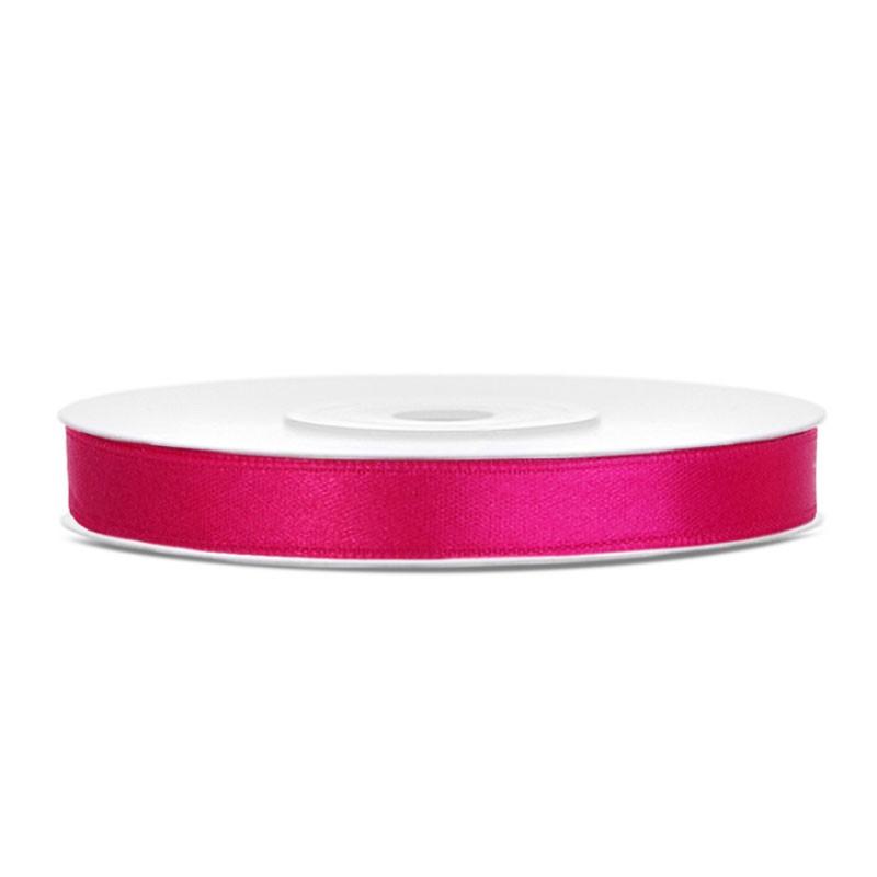Nastrino Raso rosa scuro TS6-006 6 mm x 25 m
