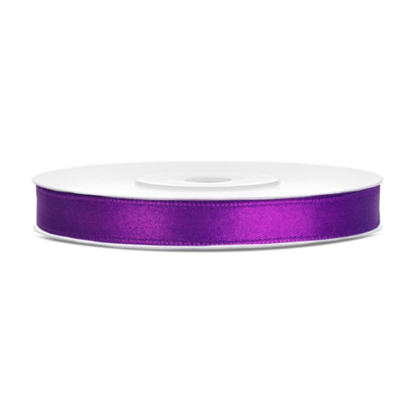 Nastrino Raso violetto TS6-062 6 mm x 25 m