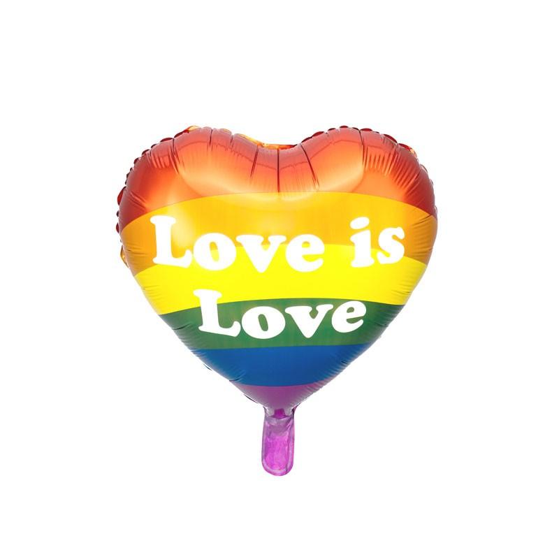 Palloncino foil cuore love is love 35 cm (14\'\') FB99