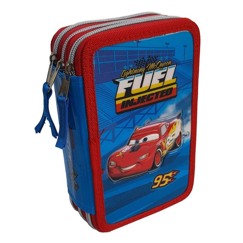 Astuccio Scuola 3D Cars Disney Pixar Saetta McQueen 3 Zip Fila Giotto CA0632