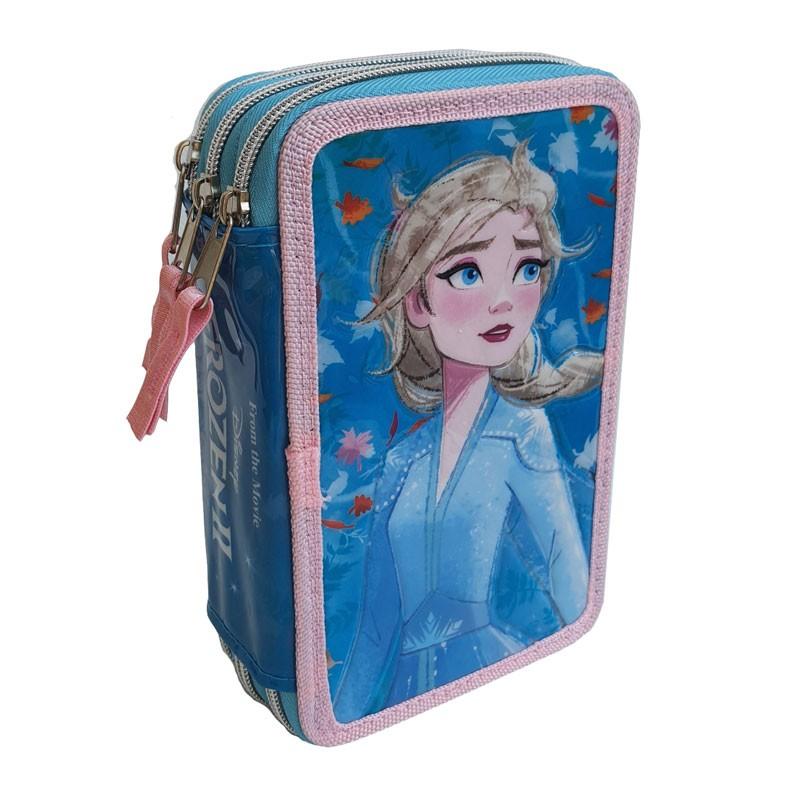 Astuccio Scuola 3D Frozen FZN0632 3 Zip Fila Giotto