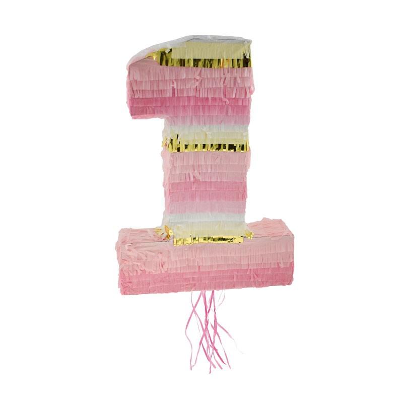 pignatta numero 1 rosa 50 x 35 x 7.5 cm WM-PJRO