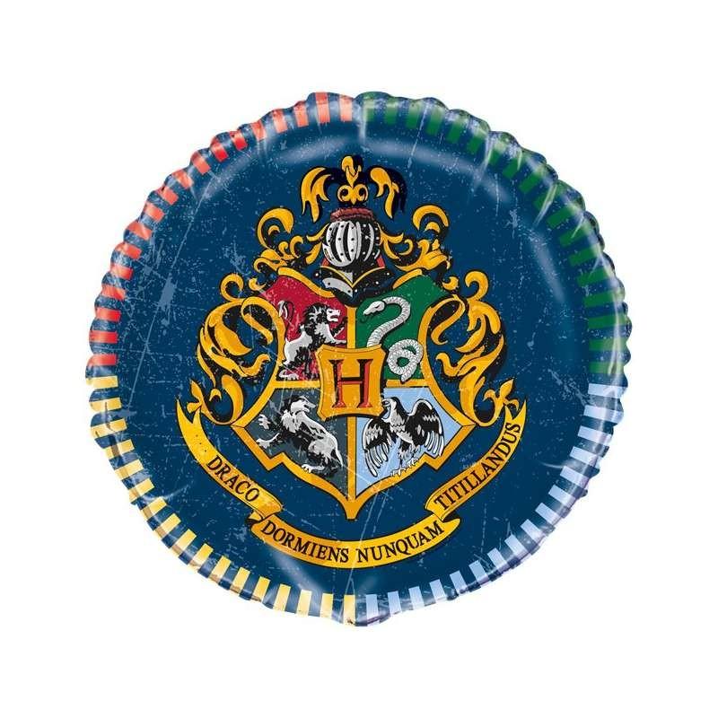 Palloncino foil tondo 45 cm 18 mylar Harry Potter Hogwarts 59077