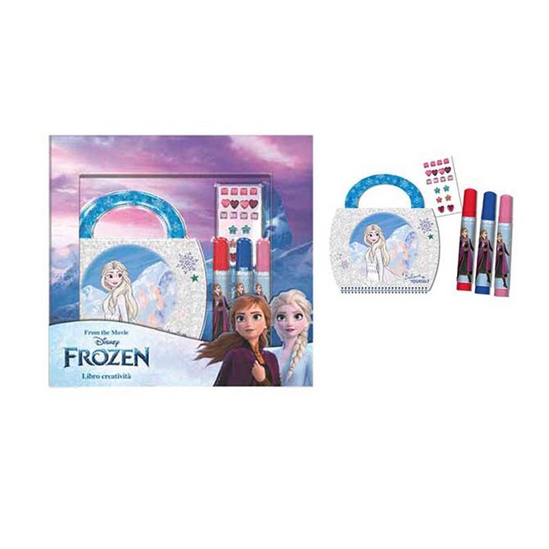 Set libro + pennarelli in scatola Frozen 16 x 3 x 22 cm FR0756