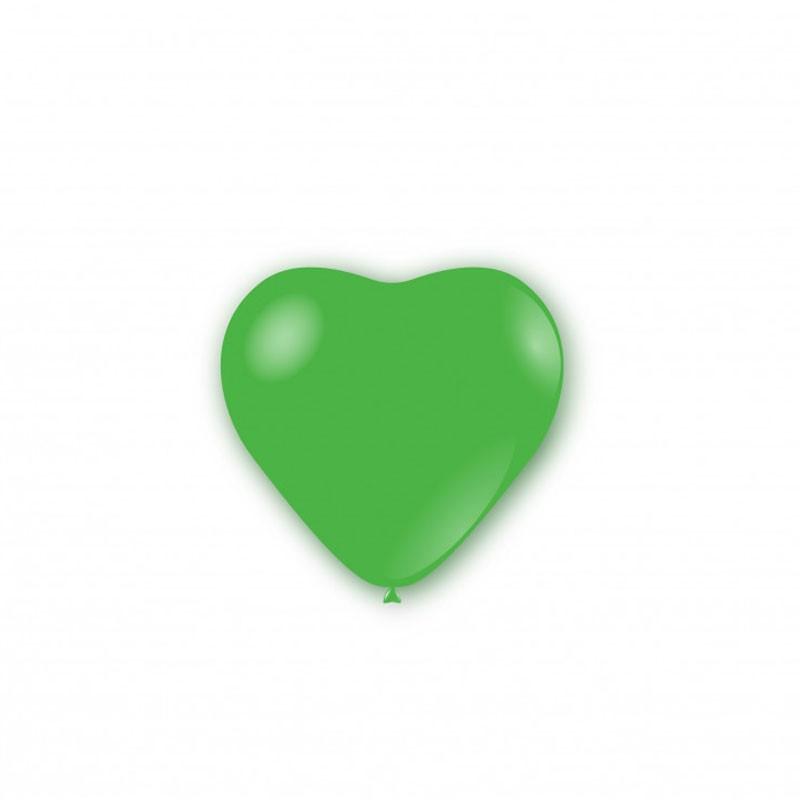 100 Palloncini pastello cuore 5 - 12cm Verdi P32 22