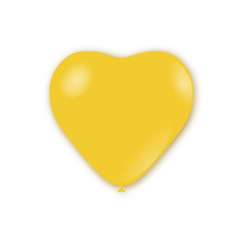 Palloncini pastello cuore 11 - 25 cm Gialli CR 11 100 pz.