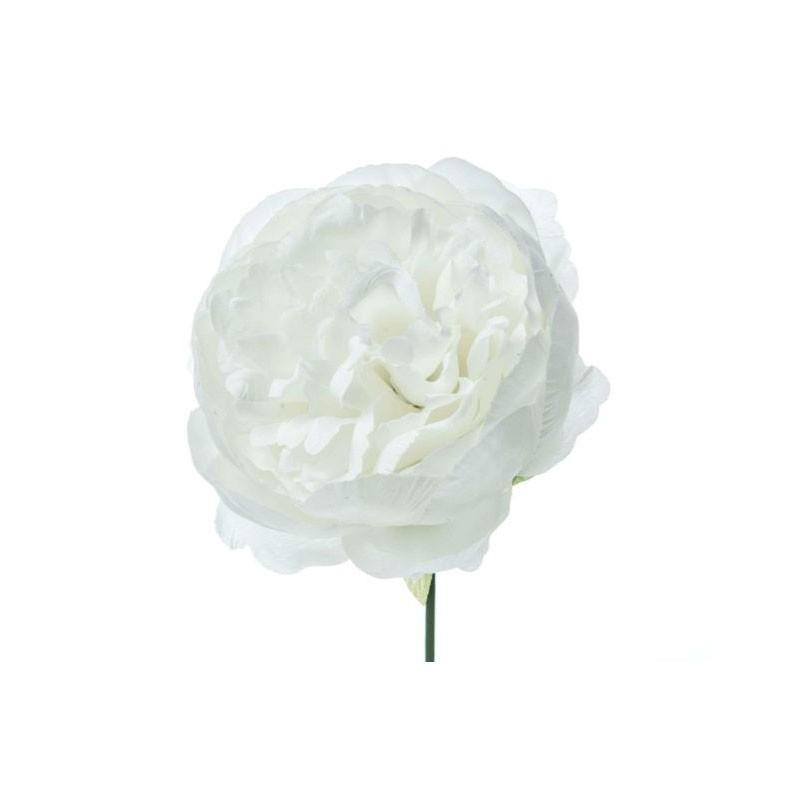 Peonia artificiale 12 pz.  bianca A15639