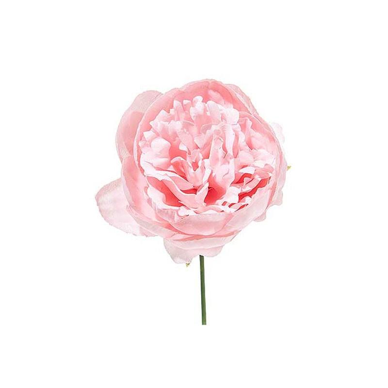 Peonia artificiale 12 pz. rosa cirpia A15639