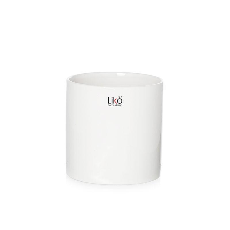 vaso in ceramica cilindro bianco 8 x 9 cm CR38/08