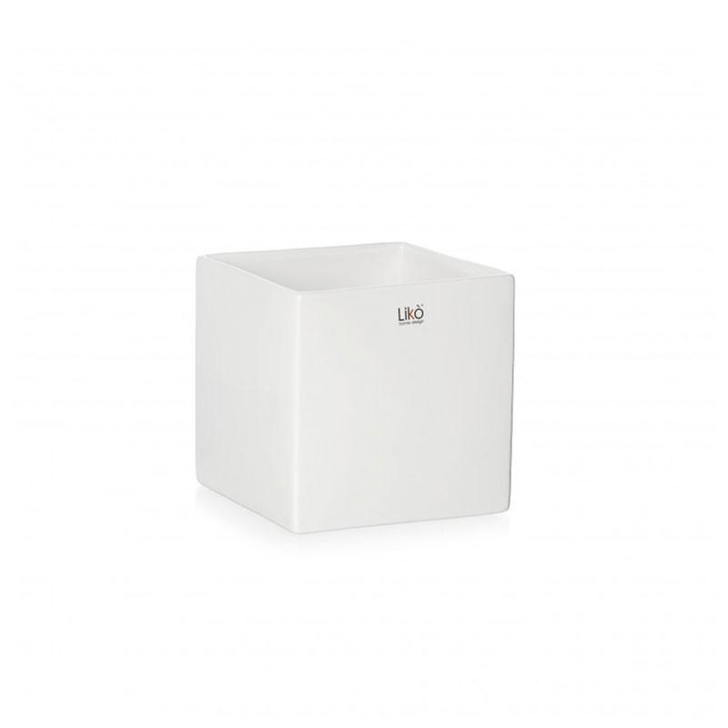 vaso in ceramica cubo bianco 6,5 cm CR35/06