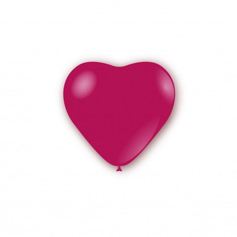 100 Palloncini pastello cuore 11 - 25cm fucsia CR 07