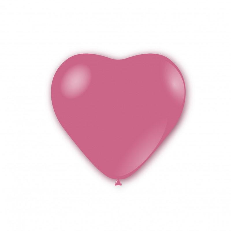 100 Palloncini pastello cuore 11 - 25cm rosa CR 26