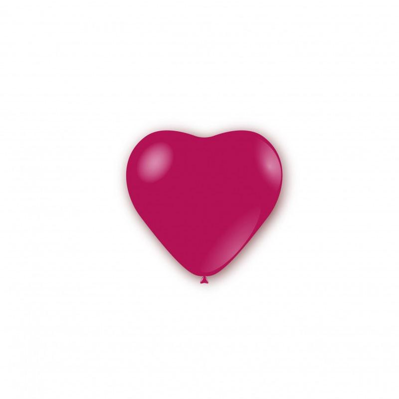 100 Palloncini pastello cuore 5 - 12cm Fucsia P32 07