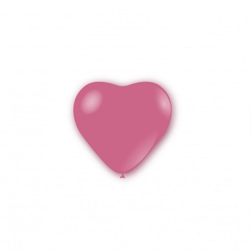 100 Palloncini pastello cuore 5 - 12cm rosa P32 26
