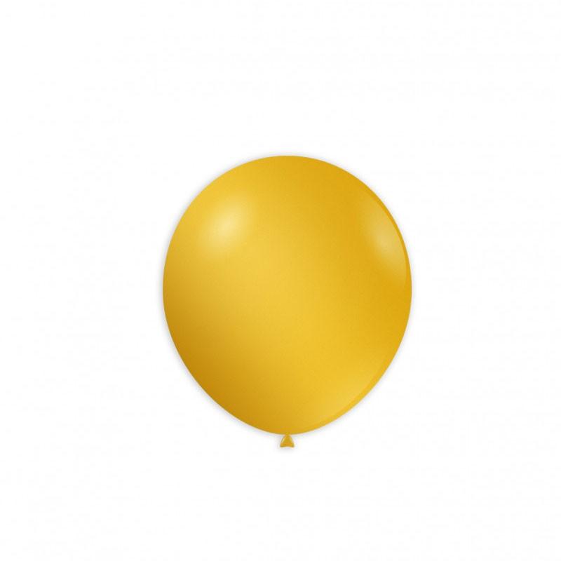 Palloncini 100 pz AM50/64 Metallizzati gialli 12 cm