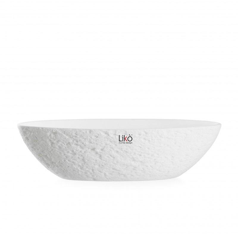 vaso centrotavola Zara bianco opaco h 10 x 40 cm CR60/40-B