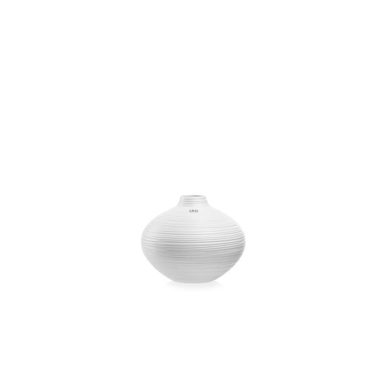 vaso Mikol 25 x 20 h cm bianco opaco CR33/25-B