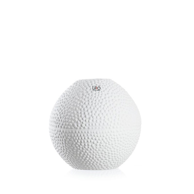 vaso sfera Nives h 25 x 25 cm bianco opaco CR25/25-B