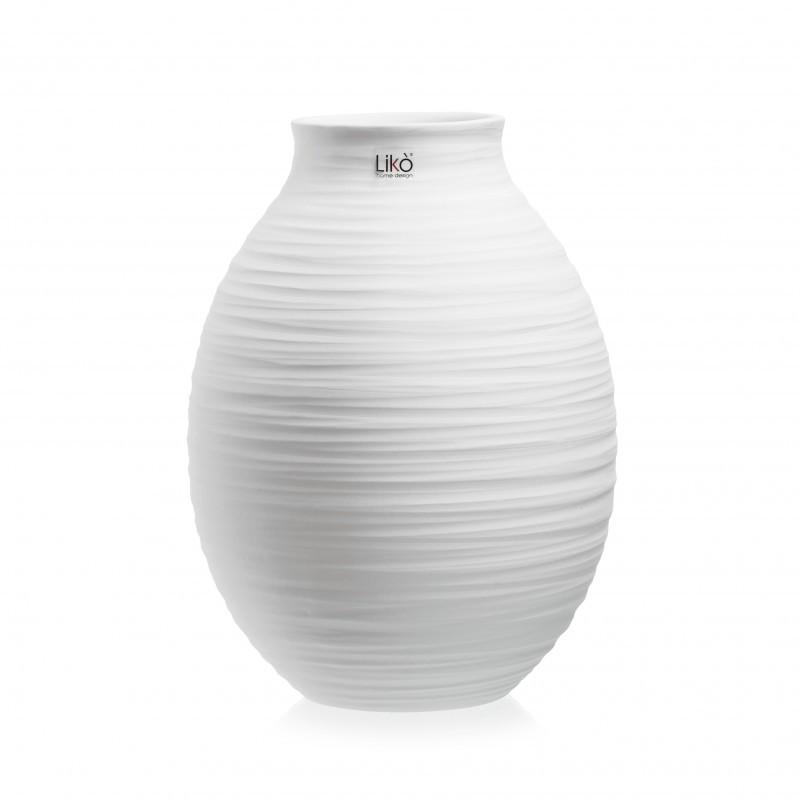 vaso soen h 30 x 22 cm bianco opaco CR59/30-B