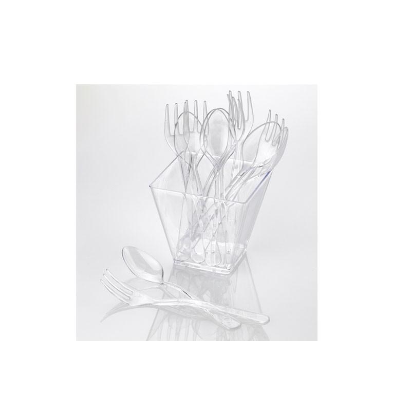 Mini cucchiaini trasparenti 50 pz. F0014 cm. 9,5h