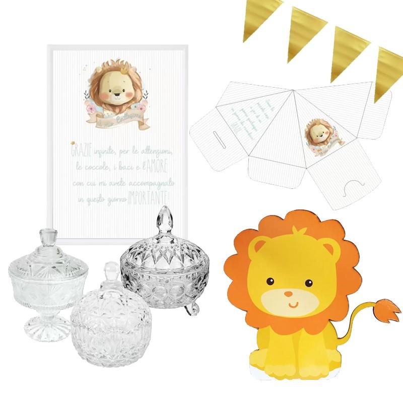 SWEET TABLE BATTESIMO LION...