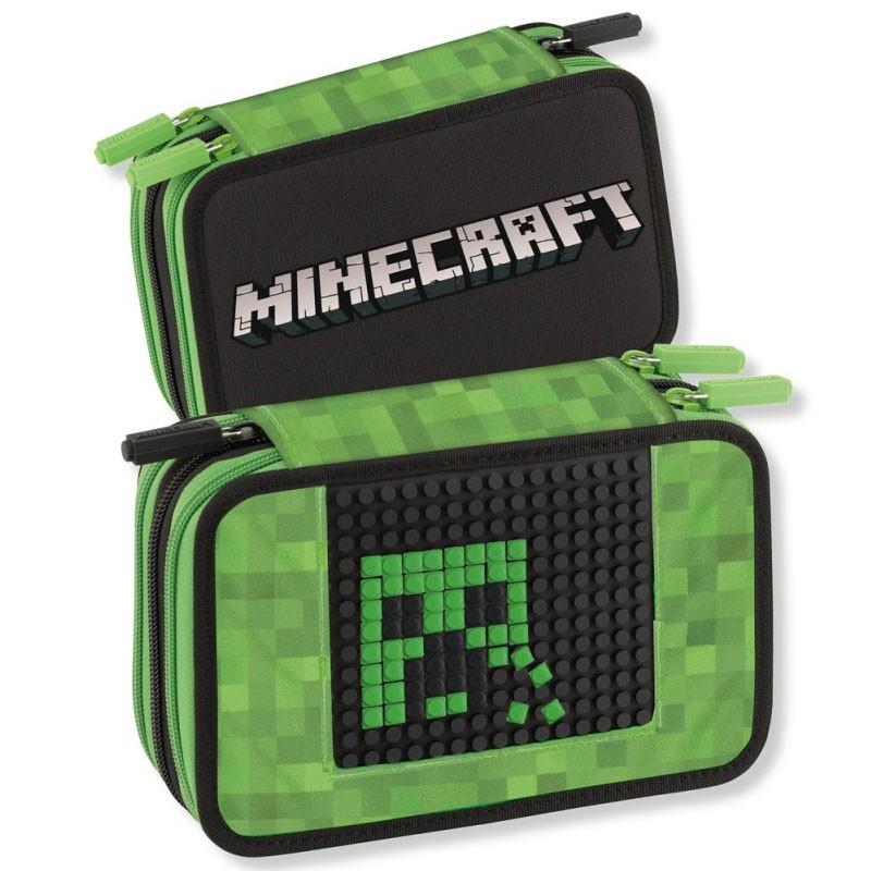 astuccio 3 zip Minecraft colori giotto personalizzabile 45012569