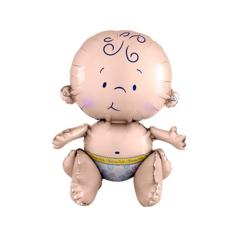 Palloncino foil bambino seduto welcome baby 33 x 38 cm 3520201