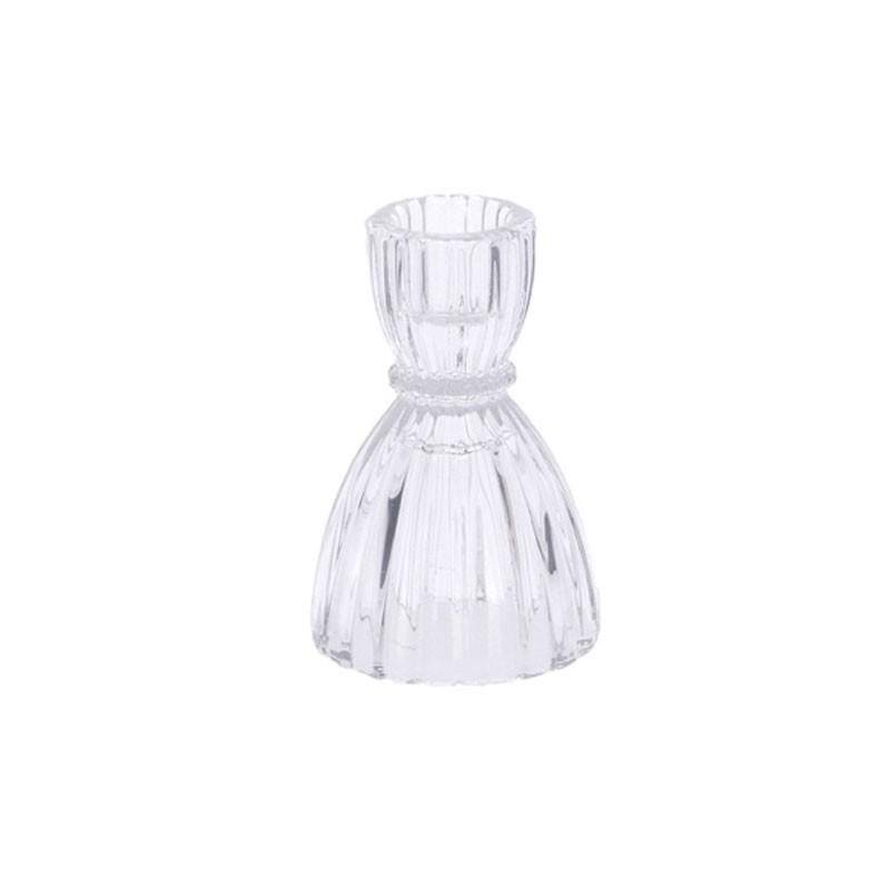 porta candela in vetro mell 6,5 x 9 cm cm cm 71252
