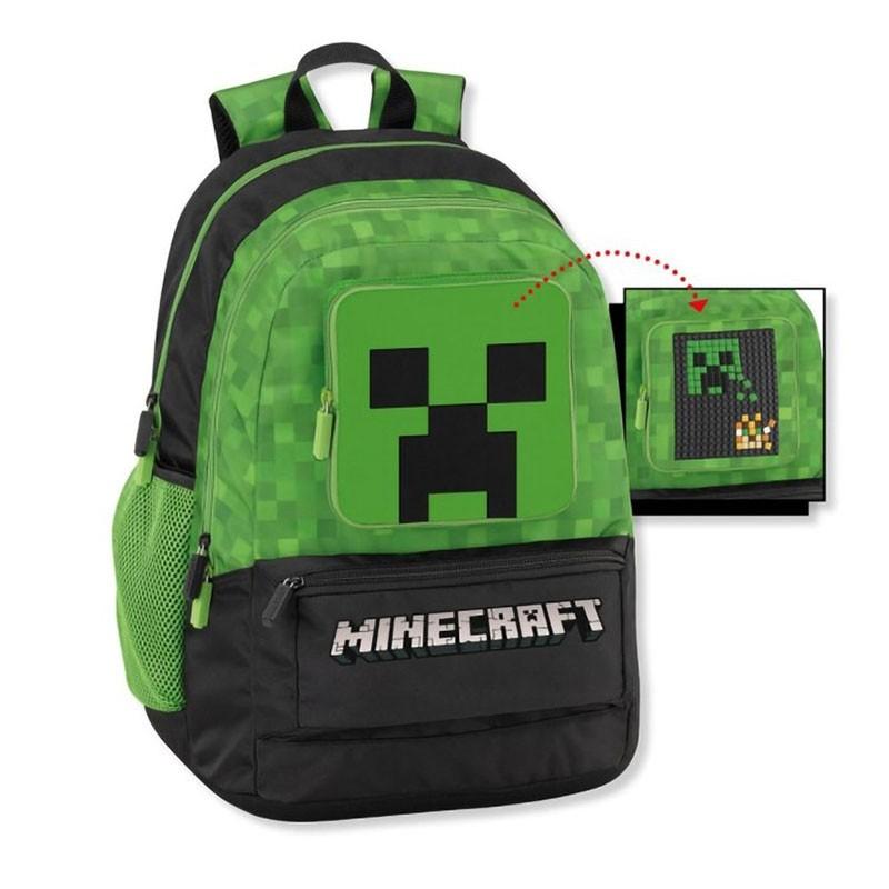 zaino scuola organizzato Minecraft personalizzabile 45012460