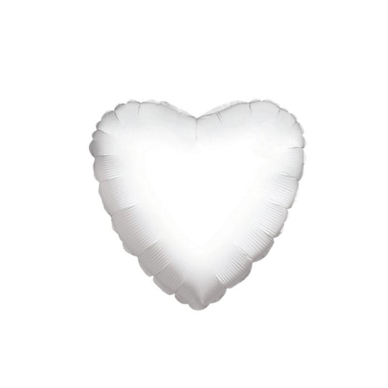 Foil Cuore Bianco 18 45 cm 34102-18/01