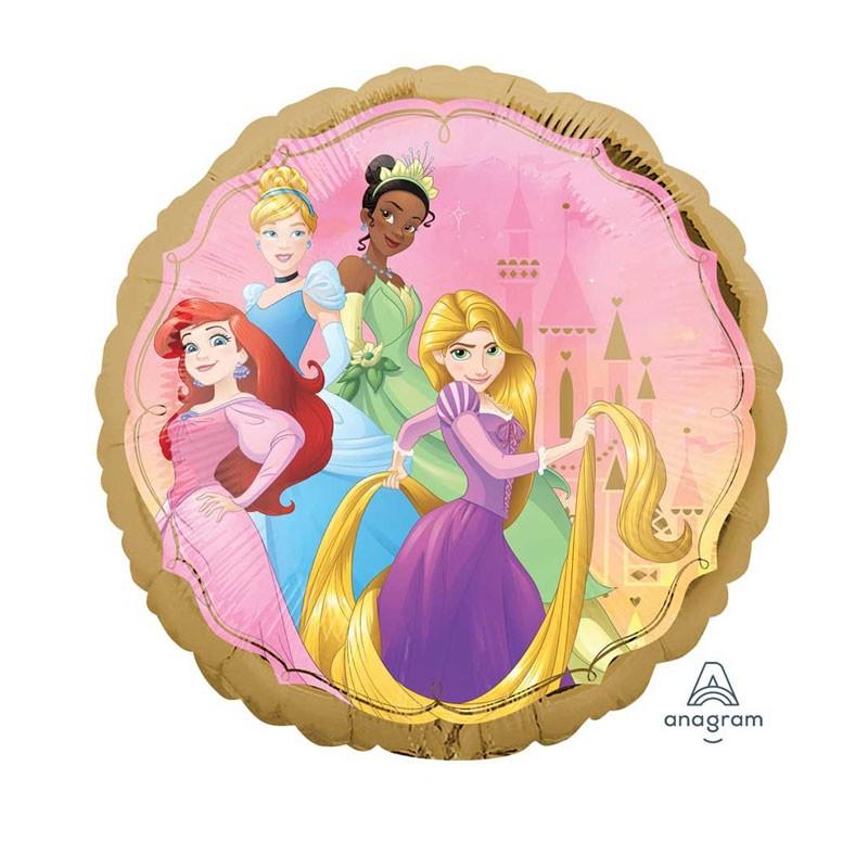Palloncino Foil Tondo Il Mondo delle Principesse 18 45 cm 39867-01