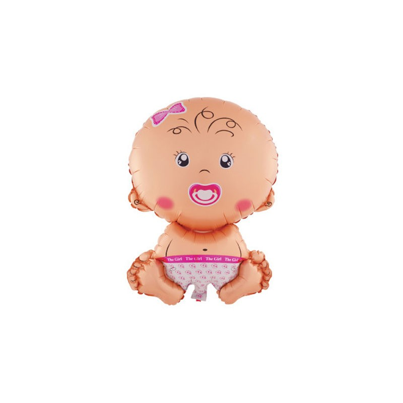 palloncino Sagoma Mini Shape Baby Girl Seduta - conf. 5 pz. 984919-01