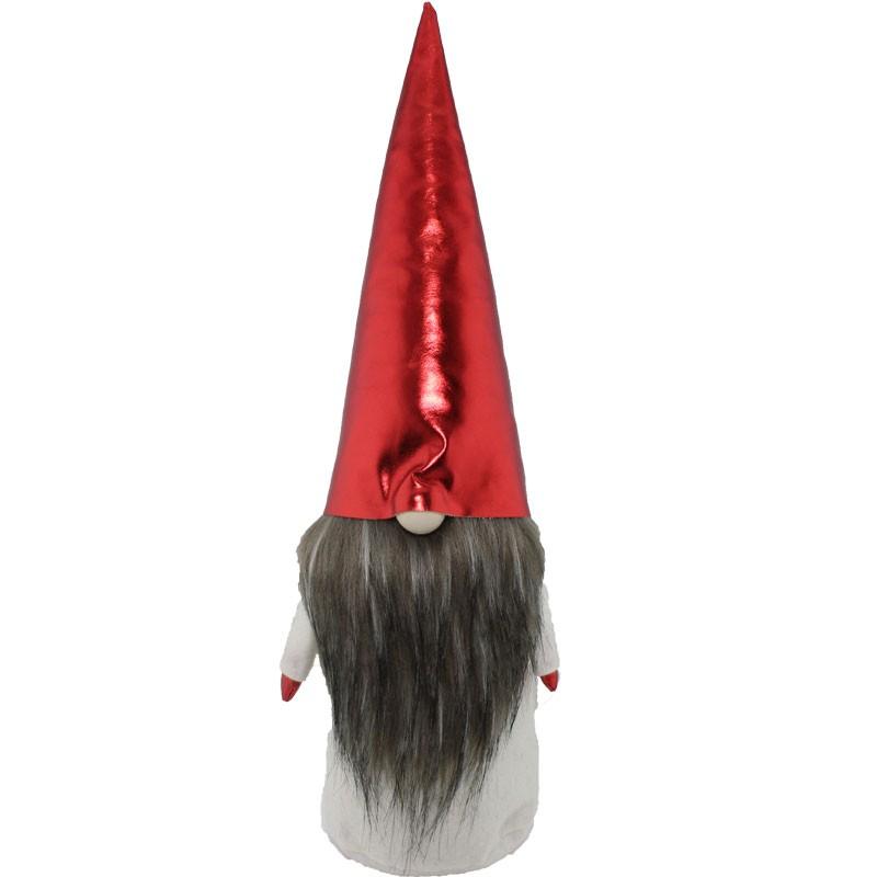 gnomo natalizio in tessuto bianco / rosso 61233
