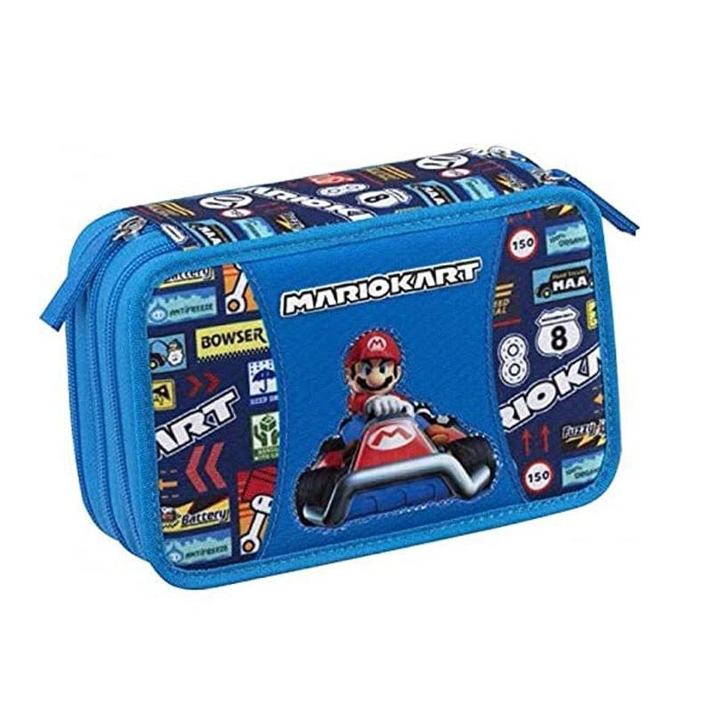 astuccio 3 zip Super Mario Kart 20 x 13 x 7 cm 65102