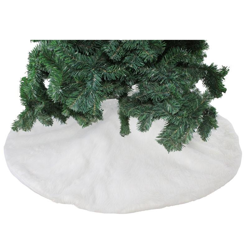 copribase albero di natale in tessuto bianco 82235 120 cm