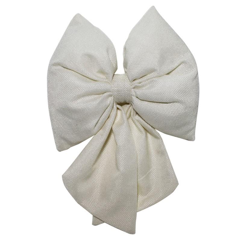 fiocco in tessuto bianco 67518 28 cm
