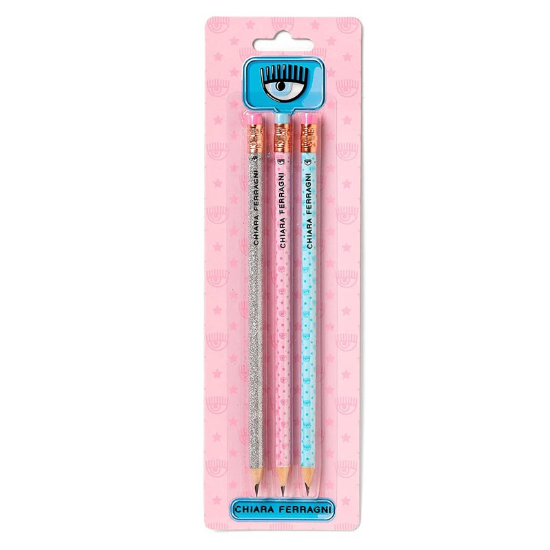 set 3 matite Chiara Ferragni mod. assortiti Pigna