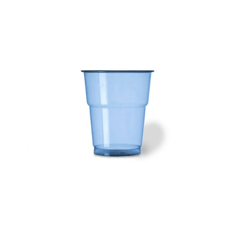 25 bicchieri plastica pet 250 cc blu