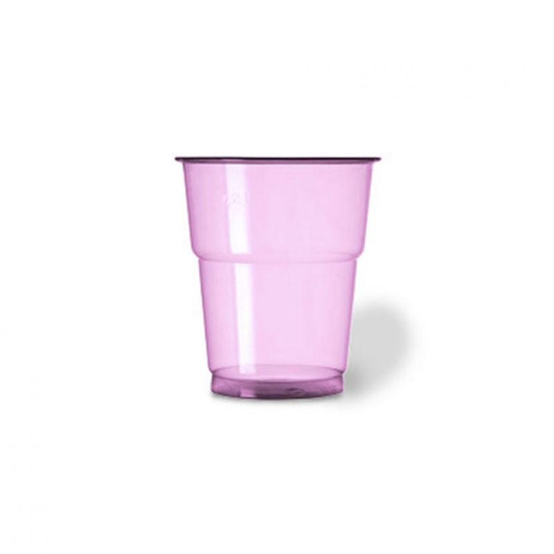 25 bicchieri plastica pet 250 cc fucsia