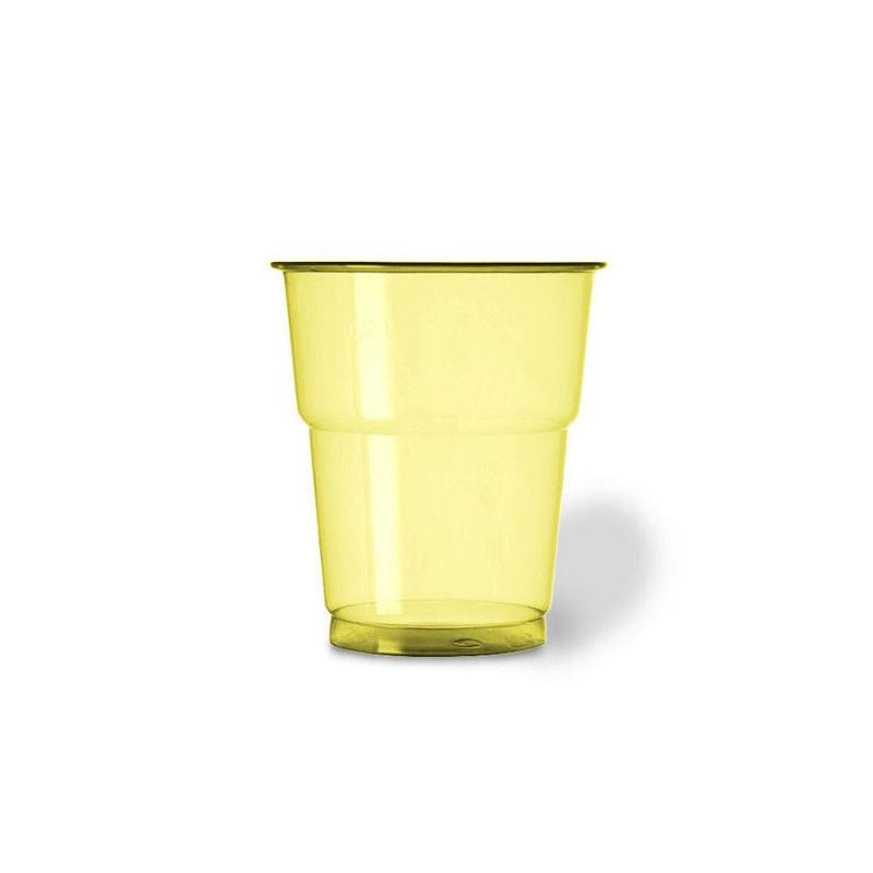 25 bicchieri plastica pet 250 cc giallo