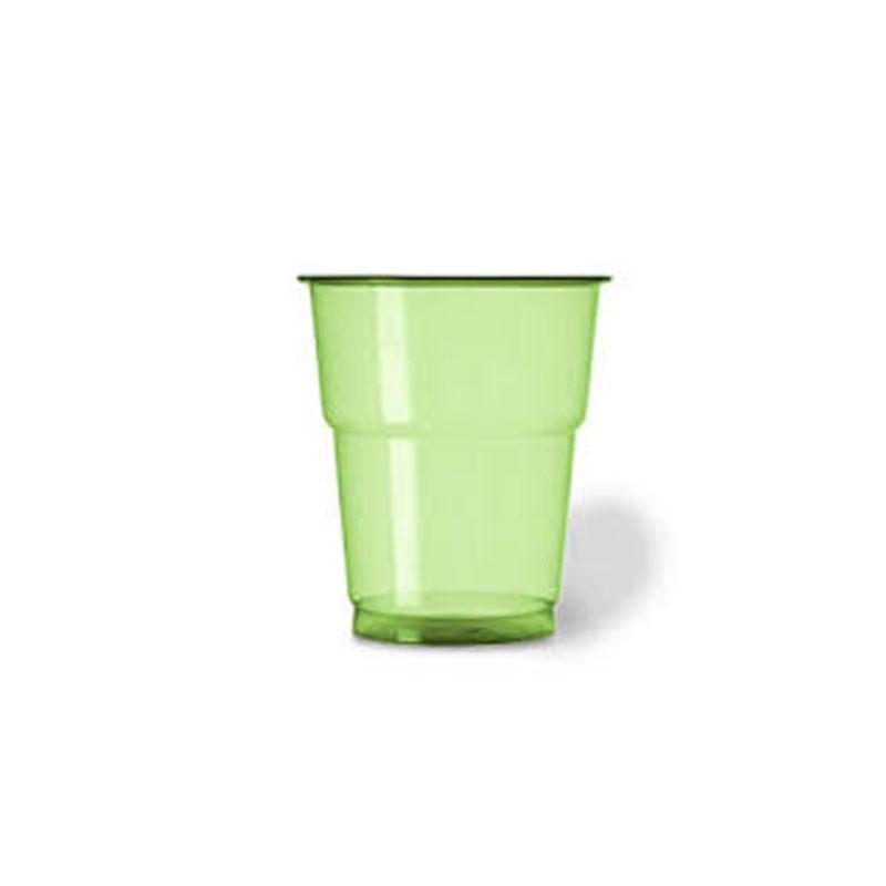 25 bicchieri plastica pet 250 cc verde