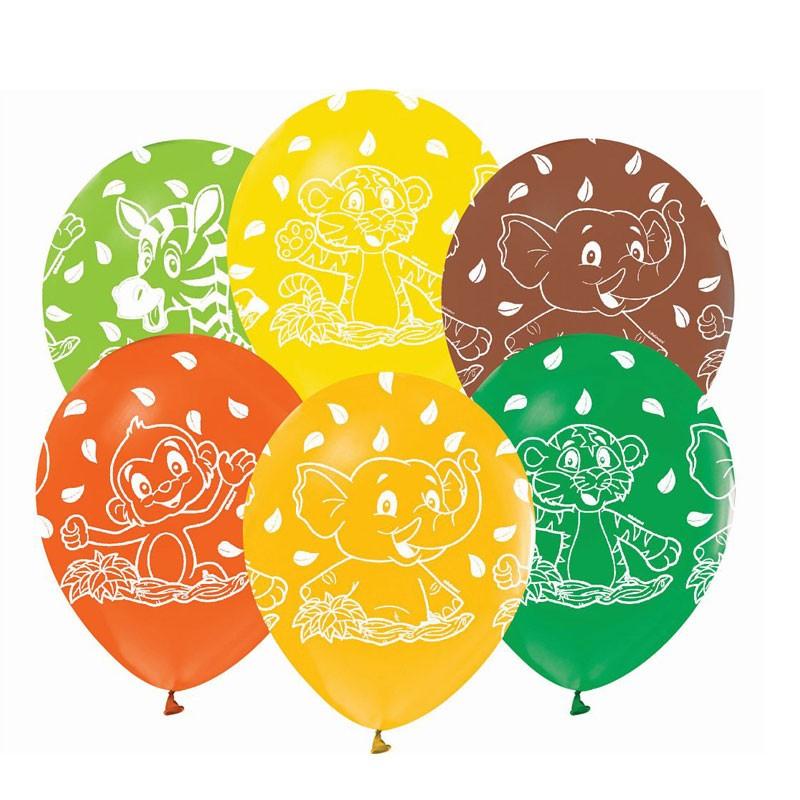 5 Palloncini animali della Giungla GZ-ZWT5