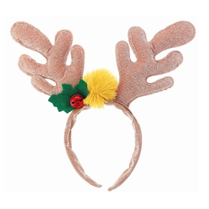 Cerchietto natalizio con corna di renna dorate NW-OROREZ