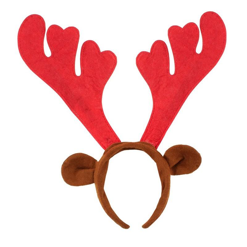 cerchietto natalizio con corna di renna rosse NW-ORORUC