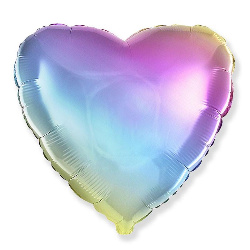 Palloncino foil cuore rainbow multicolor  45 cm 18\'\' 201500GP