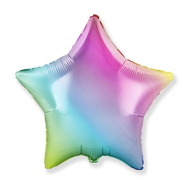 Palloncino foil stella rainbow multicolor  45 cm 18\'\' 301500GP